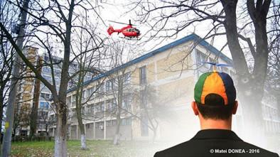 Drone si elicopter fara spital la caransebes