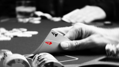 Poker, two aces