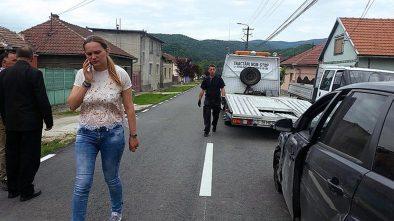 Magda Lungu la locul altercatiei