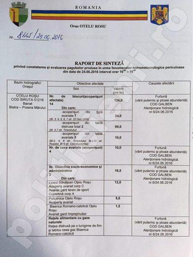 Raport sinteza 1 in Consiliul Local, 27 iunie 2016