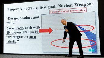 Netanyahu present Iranian project Amad