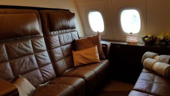 Etihad A380, residence living room