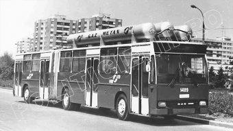 Autobuz DAC comunist dotat cu lansator de rachete