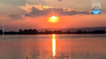 Apus de Soare pe Dunare la Moldova Noua